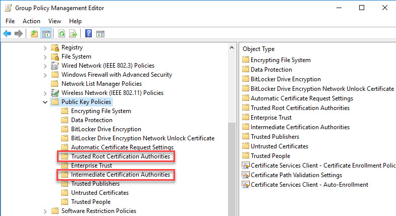 Configuring multiple URLs on a single-site StoreFront deployment - Group policy install certificate