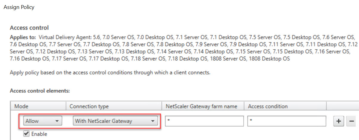 Making limited use of Citrix SmartAccess without Universal licenses - Citrix policy prohibit drive mapping for all connections through Citrix Gateway