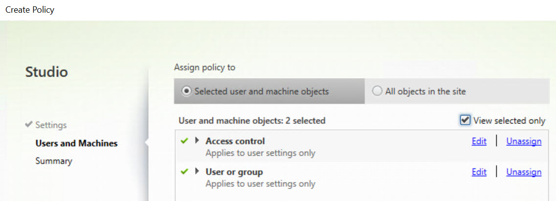 Making limited use of Citrix SmartAccess without Universal licenses - Citrix policy prohibit drive mapping two filters