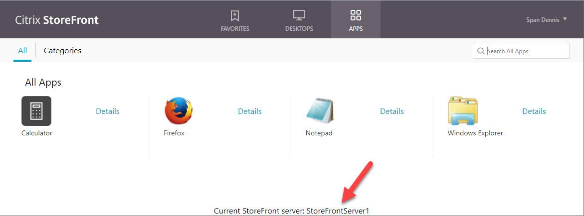 Customize Citrix StoreFront with Citrix Optimizer - Example server identifier