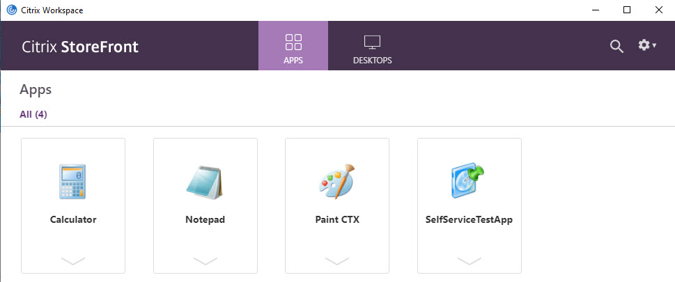 Workspace app application view