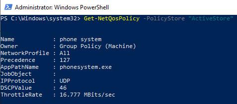 PowerShell check QoS settings working