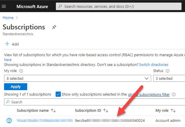 Azure Subscription ID