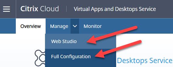 CVADS Web Studio versus Full Configuration