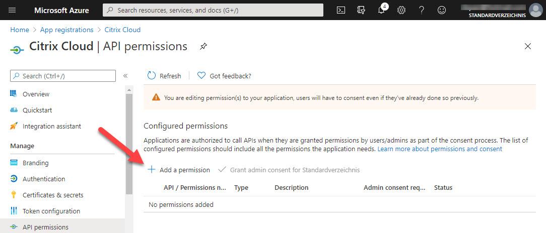 New app registration - step 6