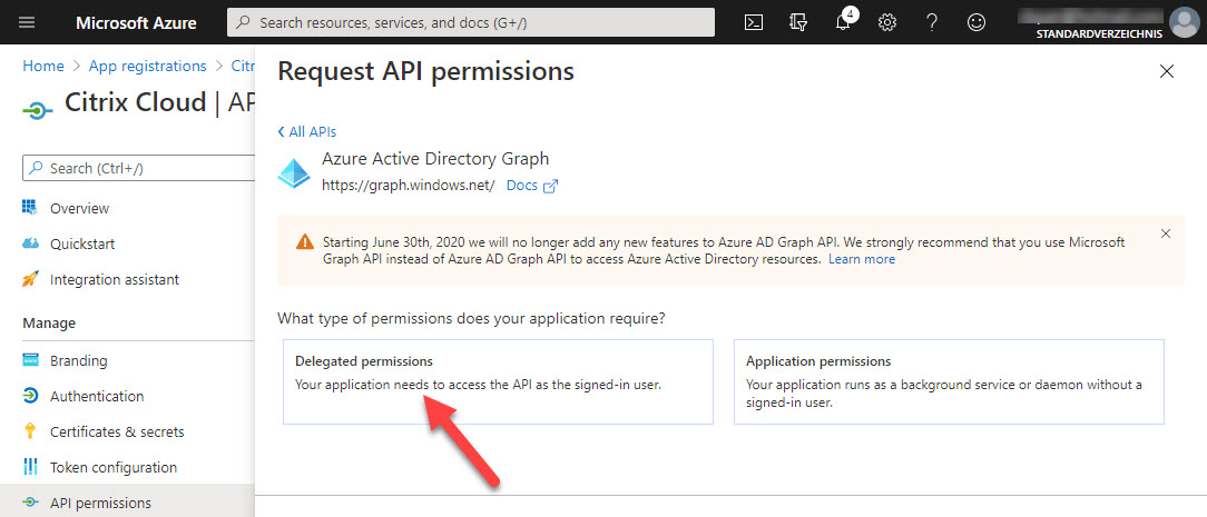 New app registration - step 8